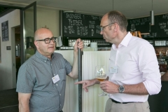 Jürg Graf, Leiter Administration und Finanzen Berner KMU und Christian Rychen, Finanzchef Berner KMU: Networking bei Traumwetter