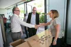 Karin Oberli von der Geschäftsstelle Berner KMU begrüsst die Teilnehmenden