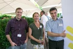 Tobias Läderach, BEGASOFT AG, Anne-Wienke Palm, Bernexpo AG und José Fernandez, Klara Business AG