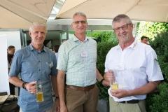 Martin Lenz, Egger + Co. AG, Benz Steffen, WK Paletten AG und Verbandspräsident Toni Lenz