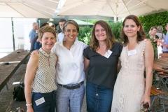 Grossrätin Annegret Hebeisen-Christen aus Münchenbuchsee, Andrea B. Roch und Karin Gerber, beide von der Business4you AG sowie Nina Zosso, Leiterin Kommunikation Berner KMU