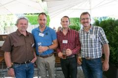 Bendicht und Reto Lenz, beide von der Fischer & Cie AG sowie Jürg Kühni jun. und Jürg Kühni sen., beide von der Jürg Kühni AG