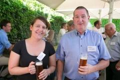 Laura Kämpfer und Martin Flückiger, beide von der Fiduria AG