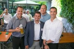 Thomas Fankhauser, UBS Switzerland AG, Silvio Celi, Vaudoise Versicherungen, Michael Elsaesser, ESA Burgdorf und Mark Haldimann, UBS Switzerland AG