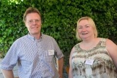 André Marty und Eveline Küng, beide von der Inkasso Küng AG