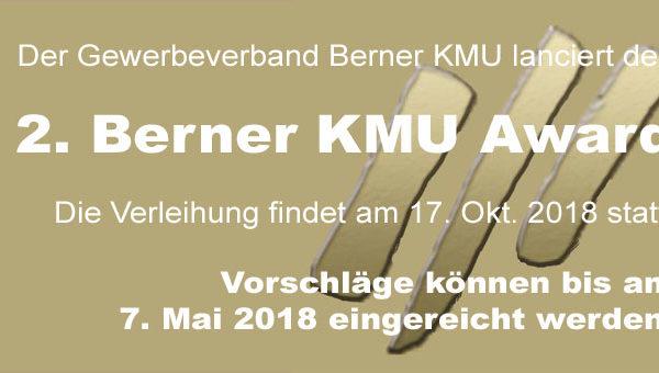 2. Berner KMU Award: Jetzt Vorschläge melden!