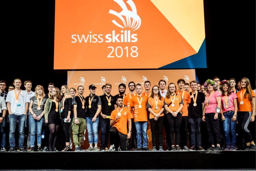 SwissSkills 2018 – Berner Team holt 63 Medaillen!