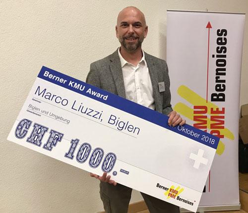 Mit Herzblut für KMU: Marco Liuzzi gewinnt den 2. Berner KMU Award