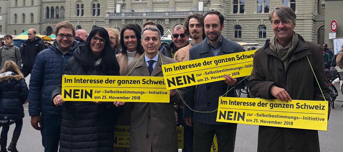 NEIN zur Selbstbestimmungs-Initiative am 25. November!