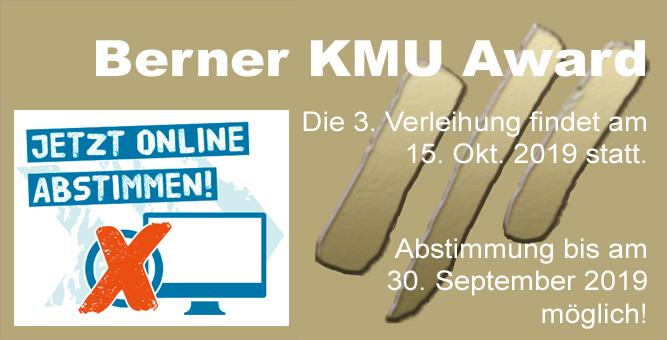 Wer gewinnt den 3. Berner KMU Award?