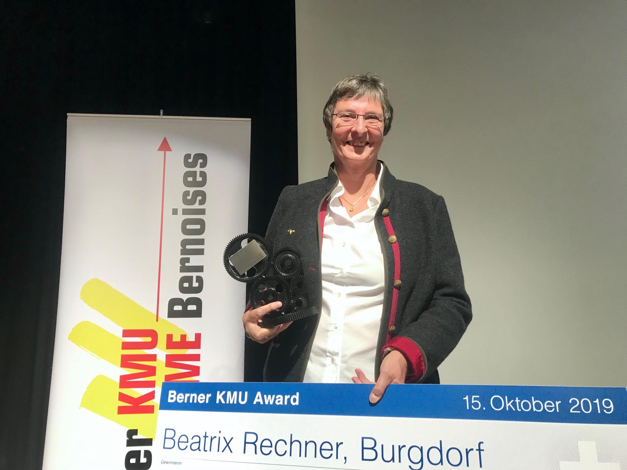 """Beatrix """"Trix"""" Rechner gewinnt als erste Frau den Berner KMU Award"""