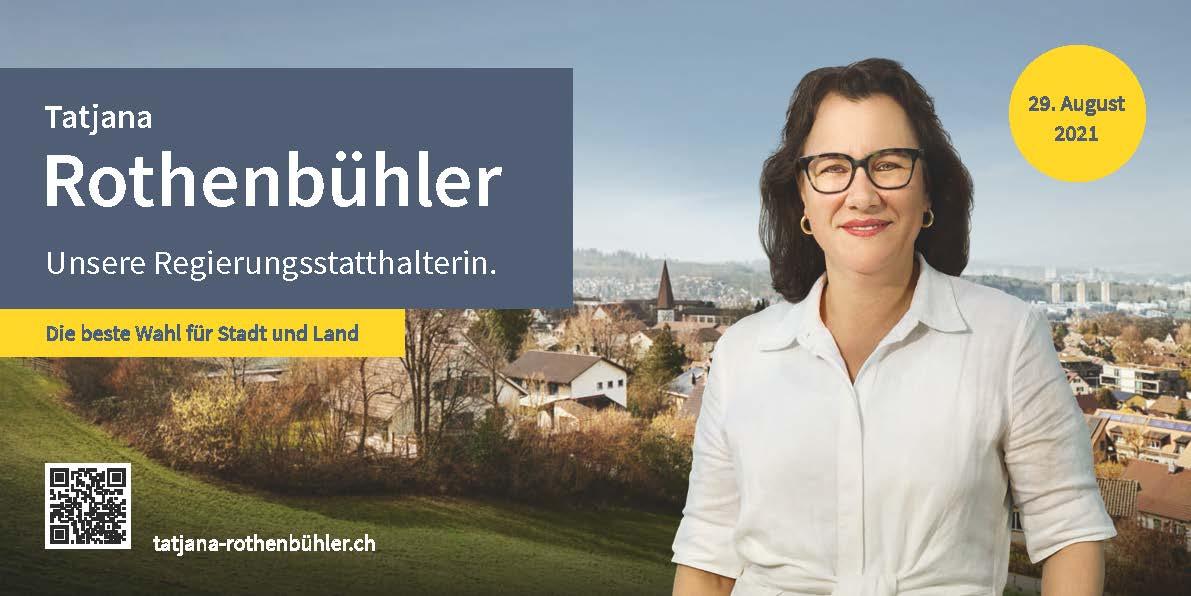 Eine Regierungsstatthalterin für das Gewerbe – am 29. August Tatjana Rothenbühler wählen!
