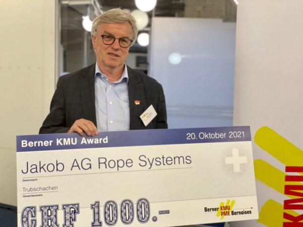 Jakob Rope Systems gewinnt als erstes Unternehmen den vierten Berner KMU Award!